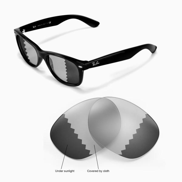 wayfarers glasses 96o0  New Walleva Polarized Transition/Photochromic Lenses For Ray-Ban Wayfarer  RB2132 55mm Sunglasses