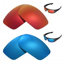 Walleva Polarized Fire red + Ice Blue Lenses For Spy Optic Logan Sunglasses