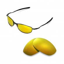 New Walleva Polarized  24K Gold Replacement Lenses For Oakley Tightrope Sunglasses