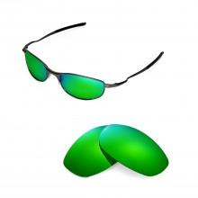 New Walleva Polarized  Emerald Replacement Lenses For Oakley Tightrope Sunglasses