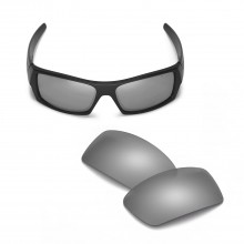 Walleva Mr.Shield Polarized Titanium Replacement Lenses for Oakley Gascan Sunglasses