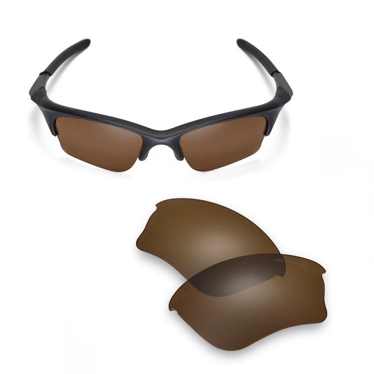 694a2732ba Walleva Mr.Shield Polarized Brown Replacement Lenses for Oakley Half Jacket  XLJ Sunglasses