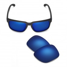 Walleva Mr.Shield Polarized Ice Blue Replacement Lenses for Oakley Holbrook Sunglasses