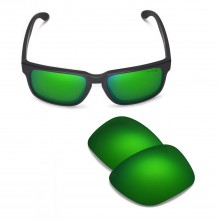 Walleva Mr.Shield Polarized Emerald Replacement Lenses for Oakley Holbrook Sunglasses