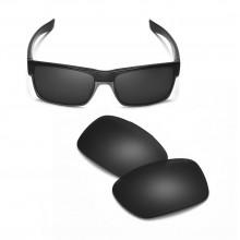 Walleva Mr.Shield Polarized Black Replacement Lenses for TwoFace Sunglasses