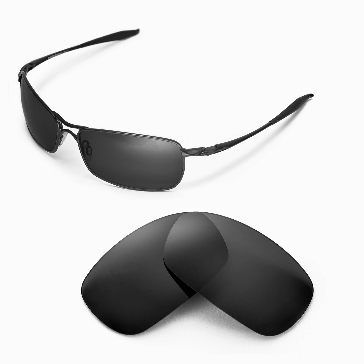 Oakley Crosshair Sunglasses  new wl polarized black replacement lenses for oakley crosshair 2 0