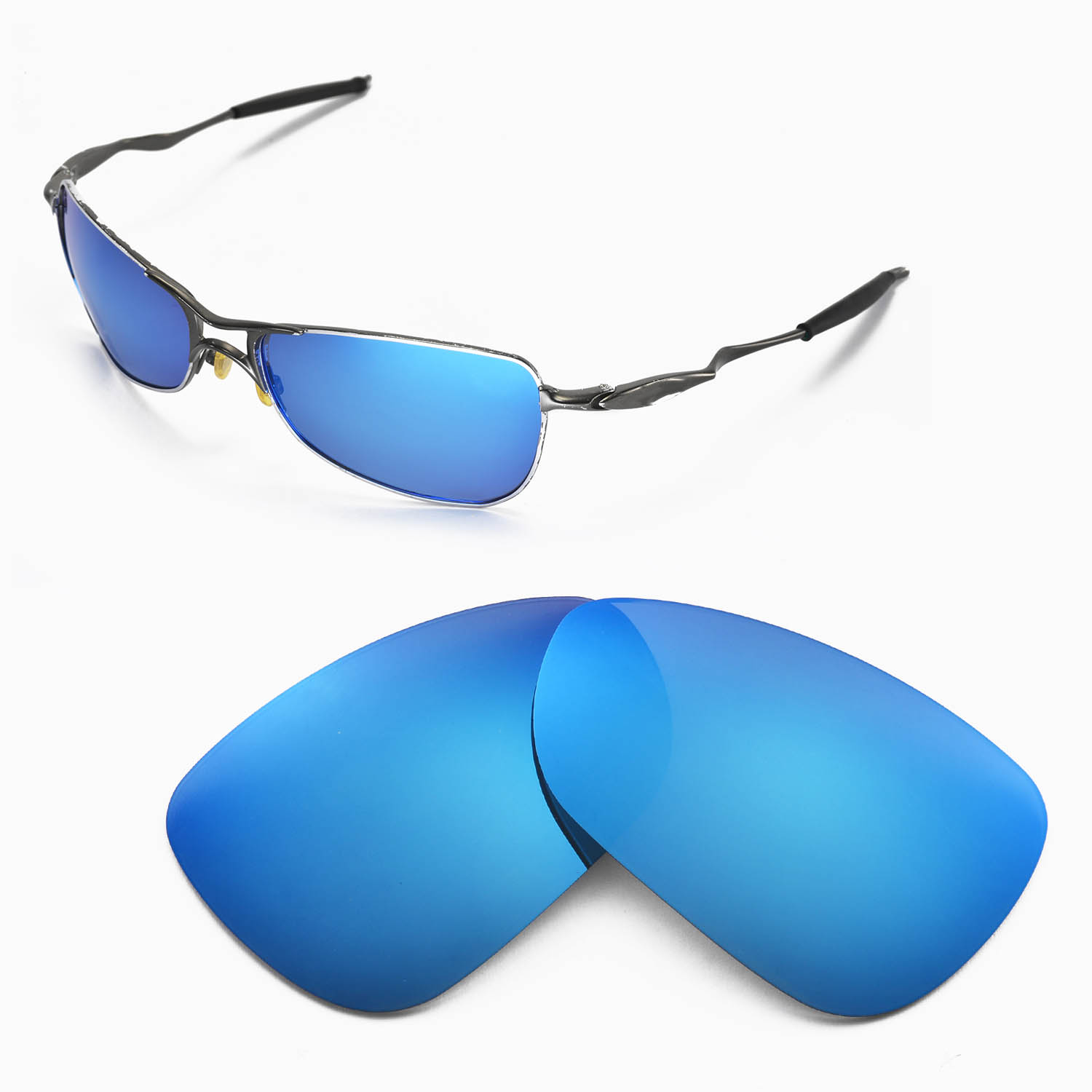 Blue Sunglasses Lenses  new wl polarized ice blue replacement lenses for oakley crosshair