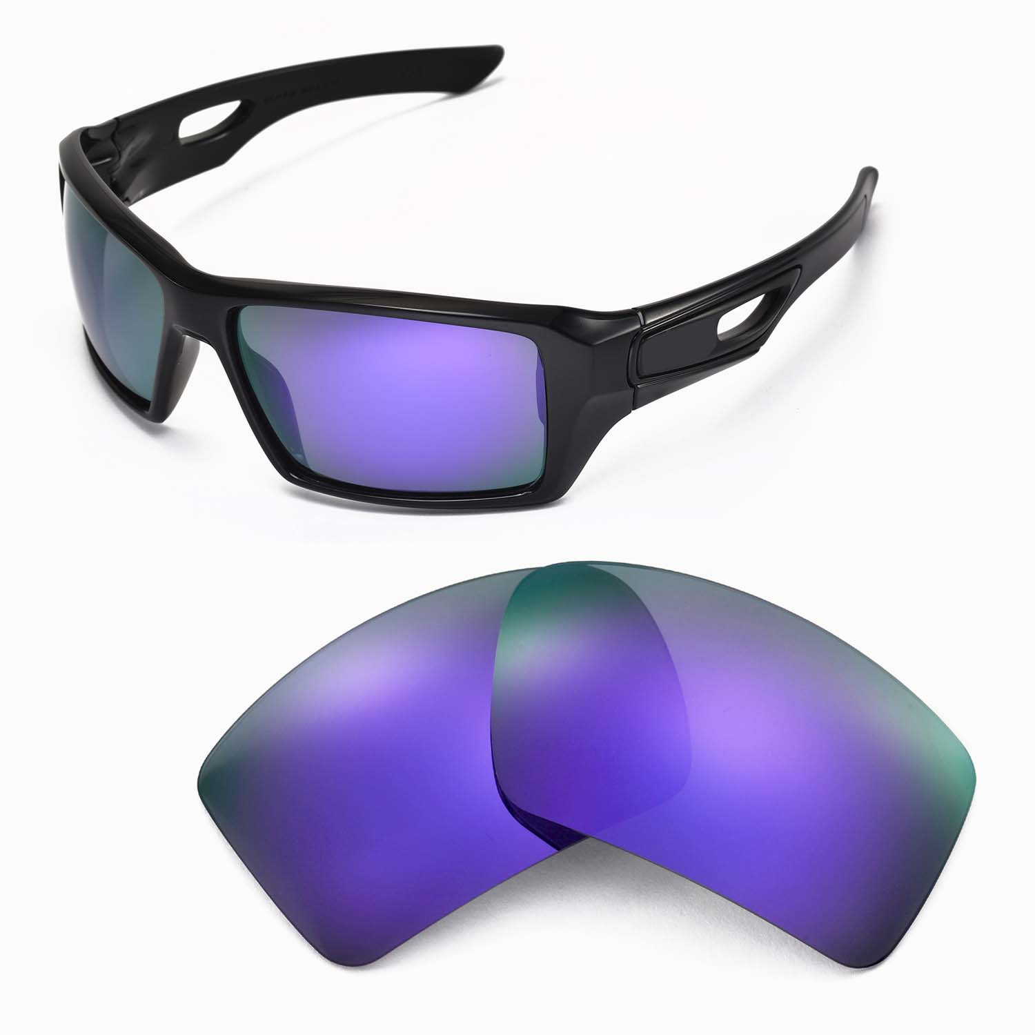 purple oakley sunglasses  New WL Polarized Purple Replacement Lenses For Oakley Eyepatch 2 ...