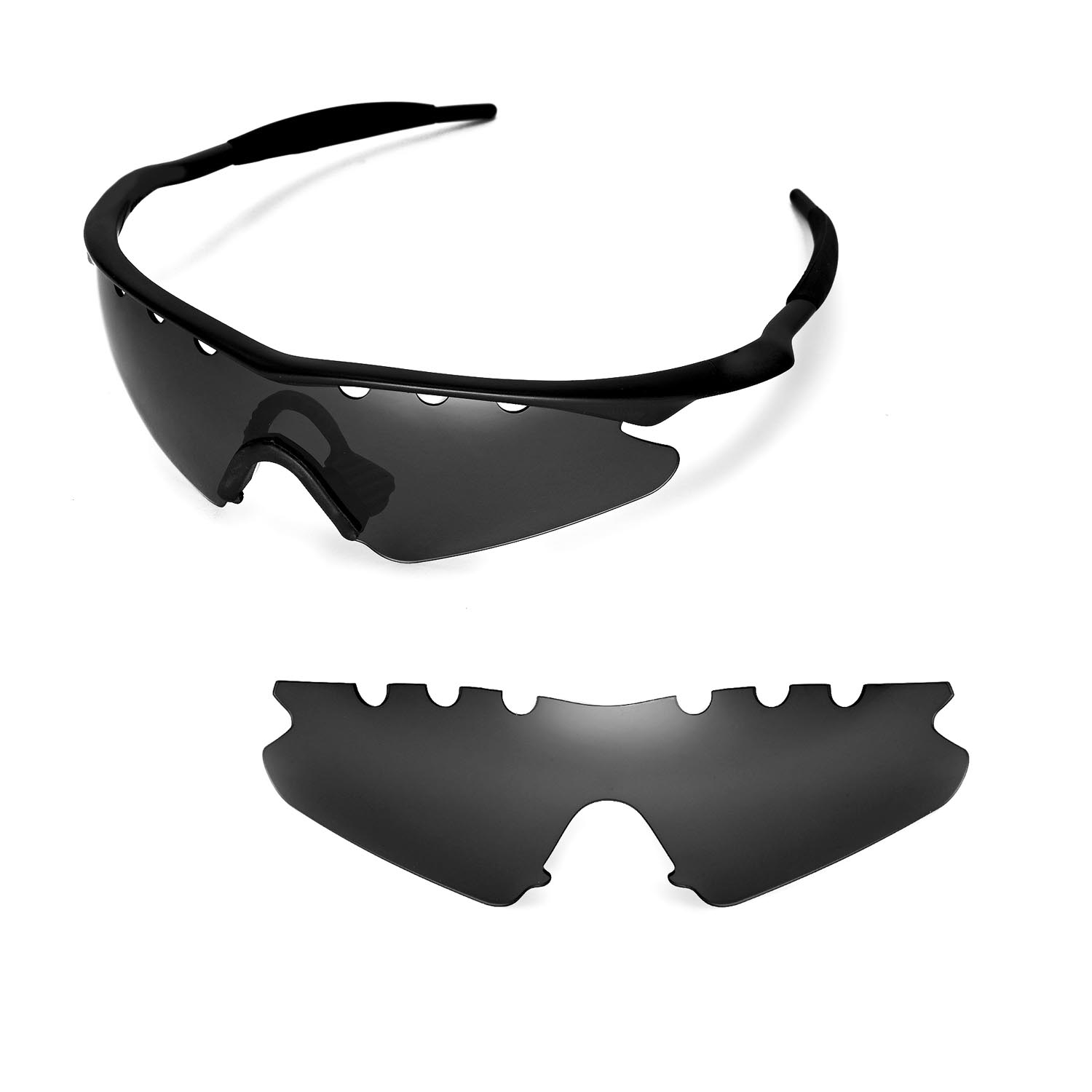 walleva polarized black vented lenses for oakley m frame sweep x1 walleva microfiber lens cleaning cloth x1