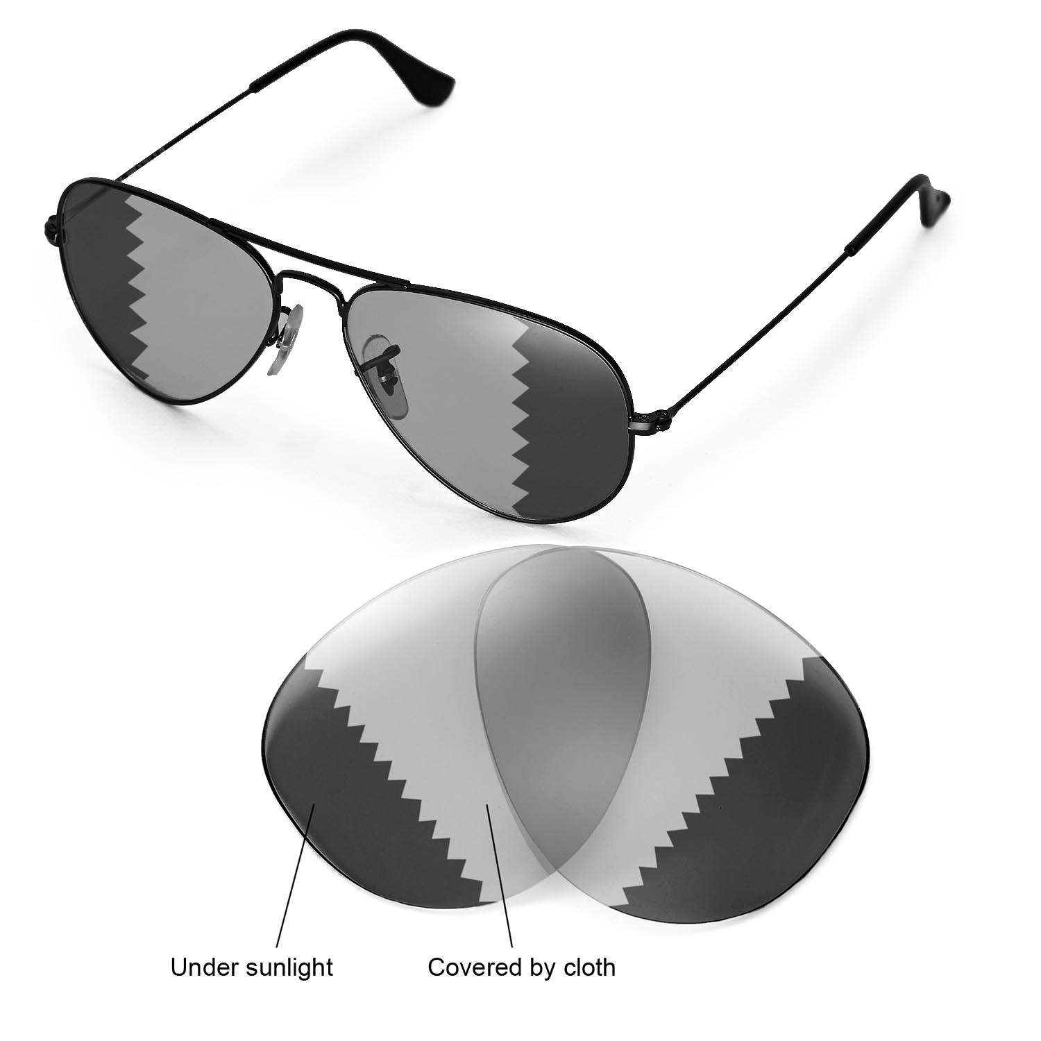 ray ban aviator rb3025 large metal  WL Polarized Transition Lenses 4 Ray-Ban Aviator Large Metal ...