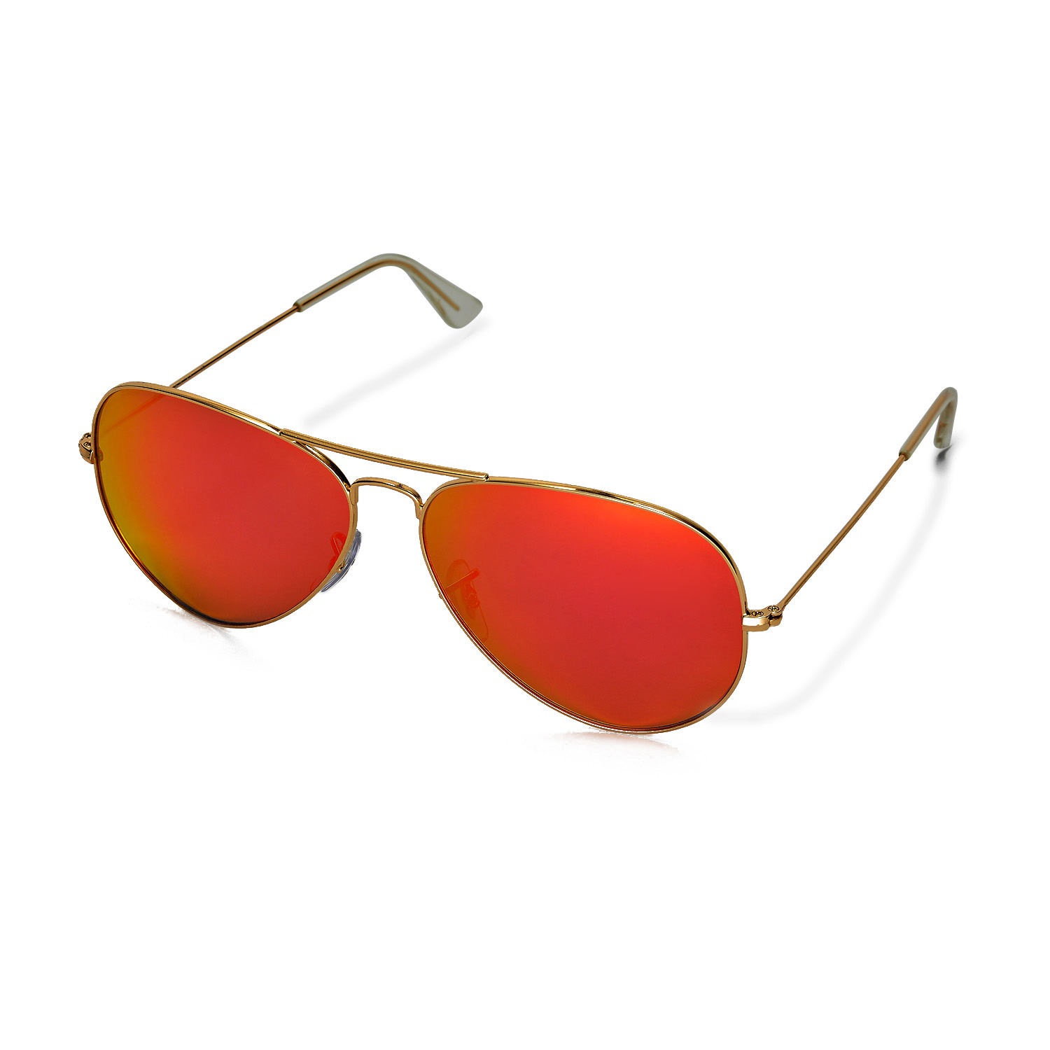 8207321a7f Ray Ban Aviator Sunglasses Fire Orange Gold Mirror Gold Frame 3025 ...