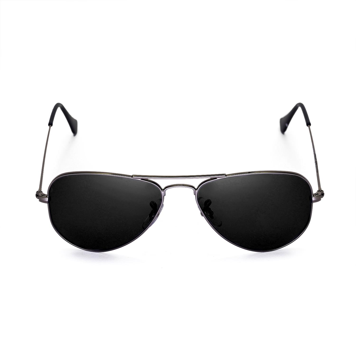 black ray ban aviators  new walleva polarized black lenses for ray ban aviator rb3044 52mm
