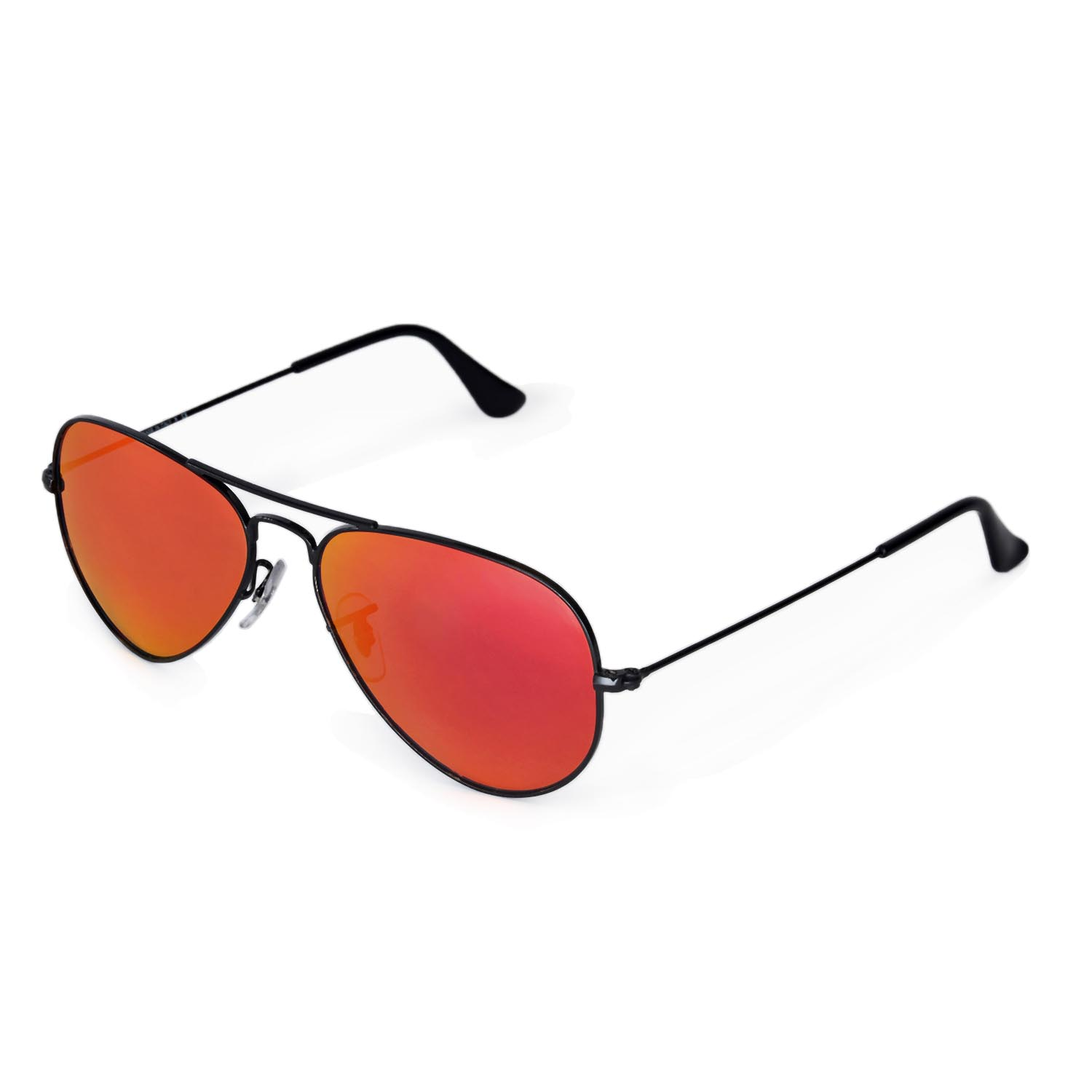 red ray ban aviators  New Walleva Polarized Fire Red Lenses 4 Ray-Ban Aviator RB3044 ...