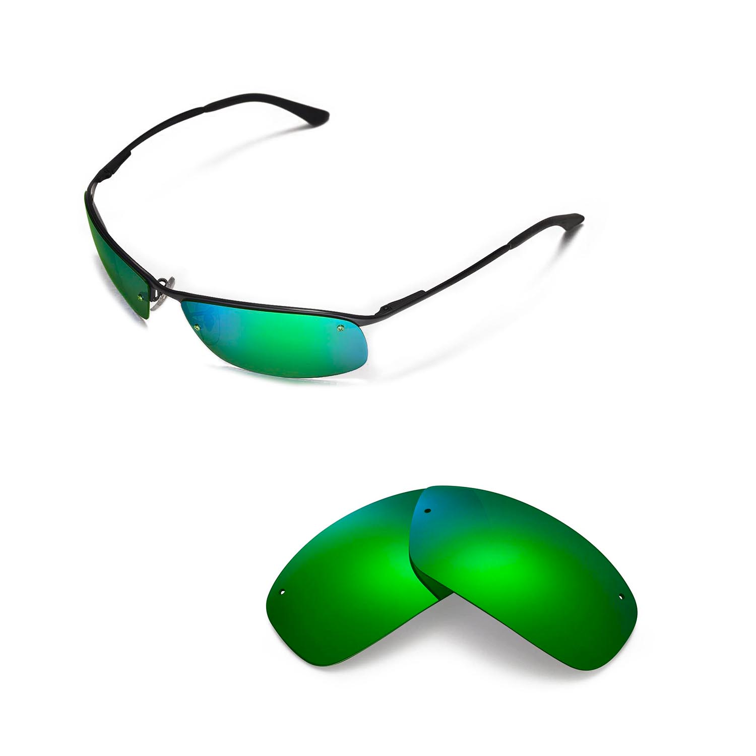 Walleva Polarized Lenses For Ray-Ban RB3183 63mm - Selected Color x1