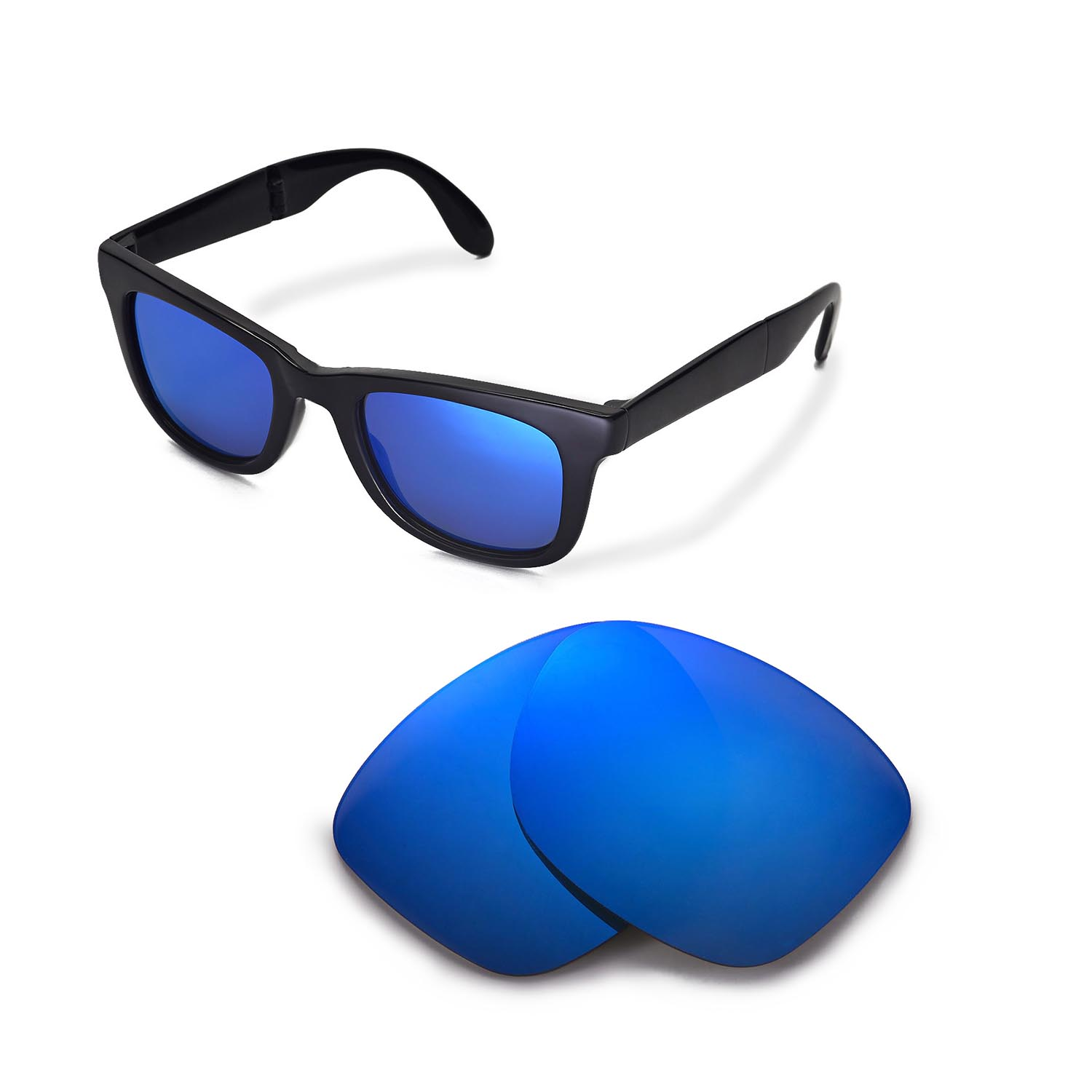 new wayfarer lenses  New Walleva Polarized Ice Blue Lenses For Ray-Ban Wayfarer RB2140 ...