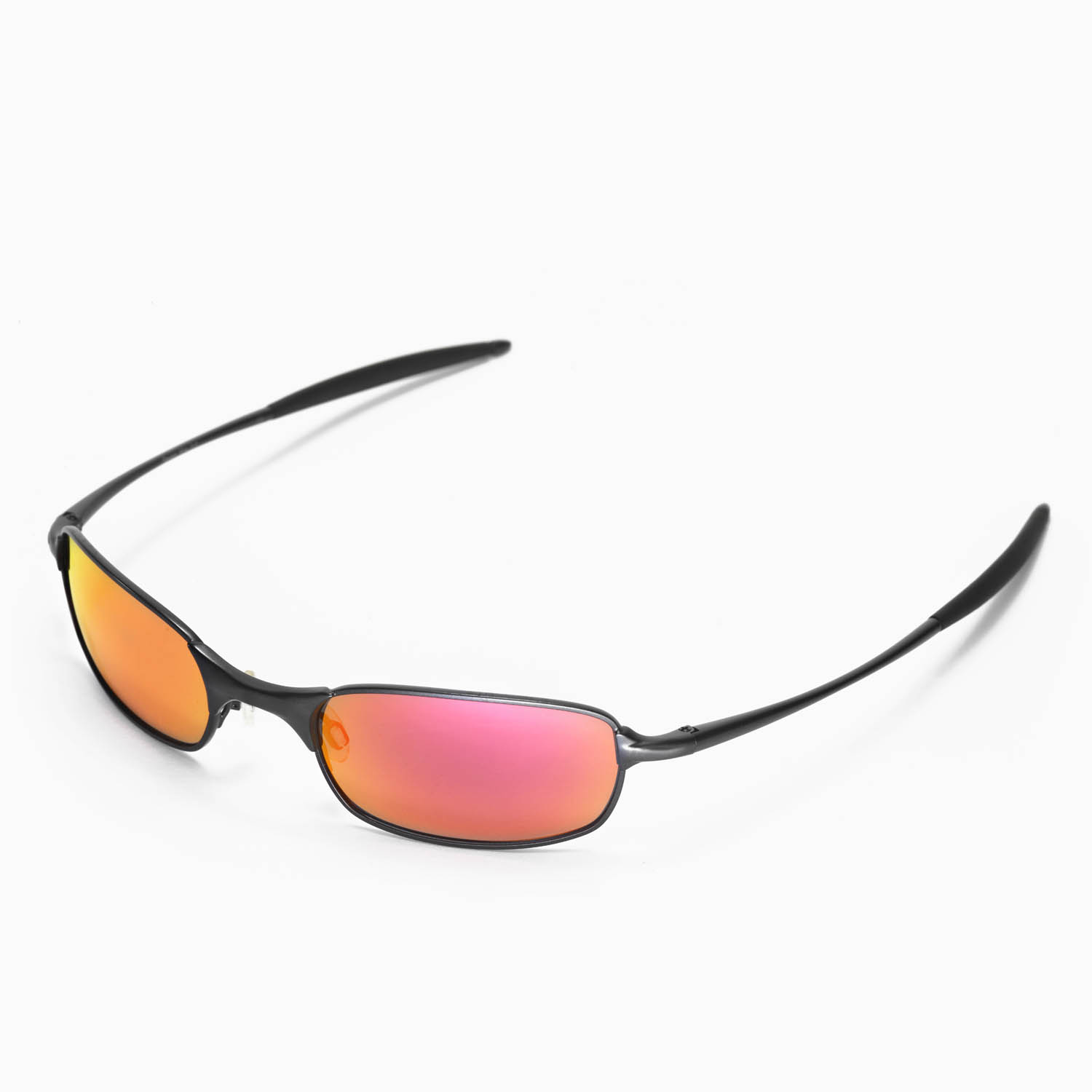 72e7a0210f3 New Walleva Polarized Fire Red Lenses For Oakley Square Wire 2.0