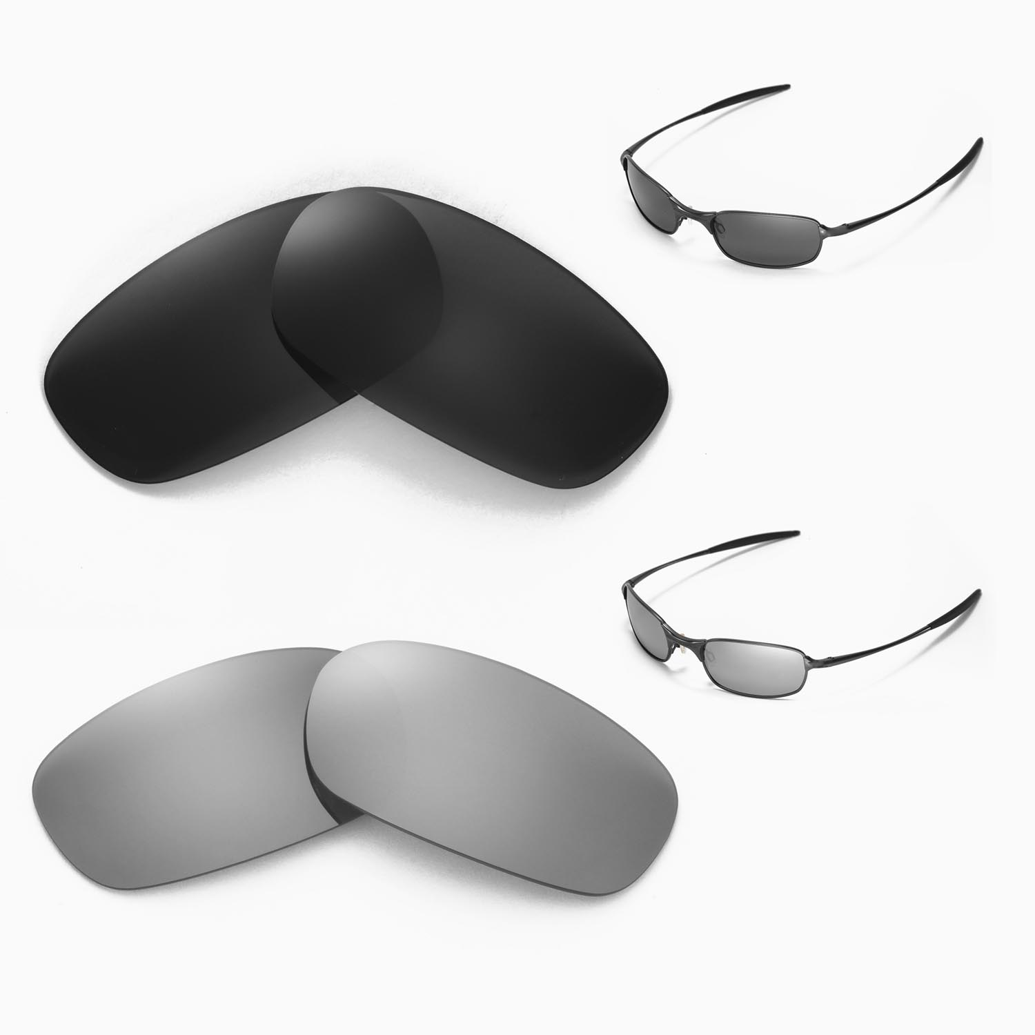 do oakley glasses come with a case  new walleva polarized black + titanium lenses for oakley square wire 2.0