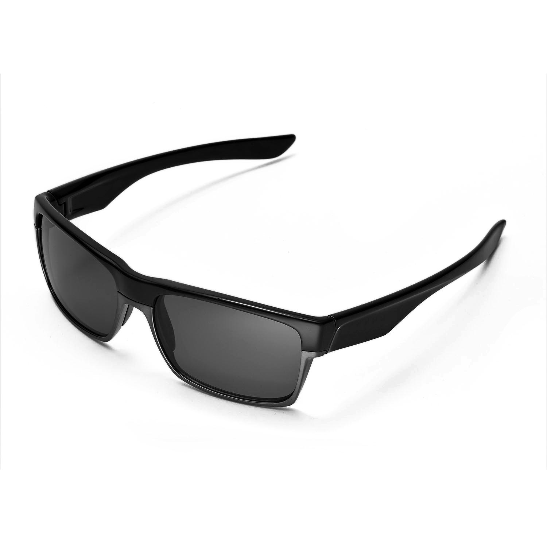 oakley 4 1 replacement lenses ldlr  New Walleva Polarized Black Lenses For Oakley TwoFace