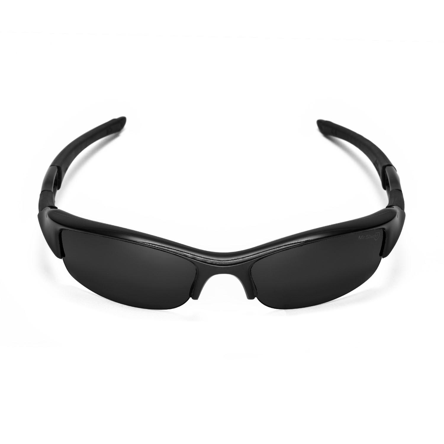 oakley flak jacket 2.0 replacement lenses kyrv  New Walleva Mr Shield Polarized Black Lenses For Oakley Flak Jacket