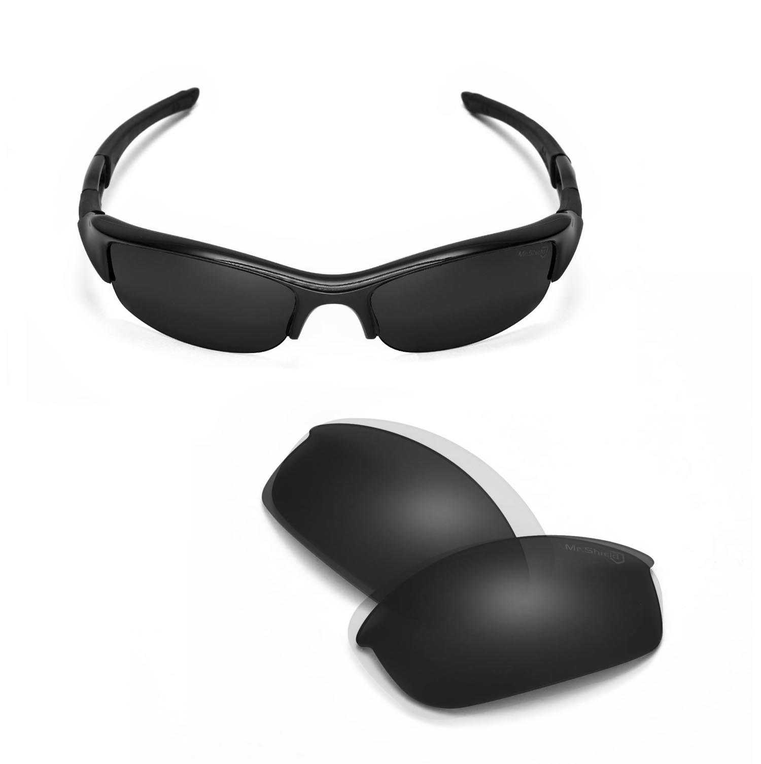 Flak Jacket Sunglasses  walleva mr shield polarized black replacement lenses for oakley