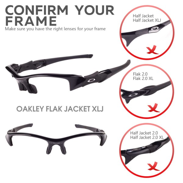 Walleva Black Replacement Lenses For Oakley Half Jacket
