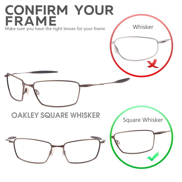 10093d7947 New Walleva Polarized Fire Red + Ice Blue Lenses For Oakley Square Whisker.  Color