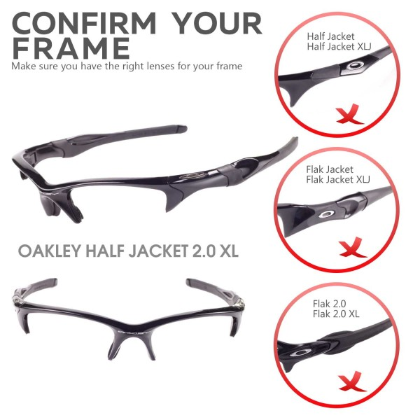 de1dcd2ff1c Walleva Emerald Polarized Replacement Lenses for Oakley Half Jacket ...