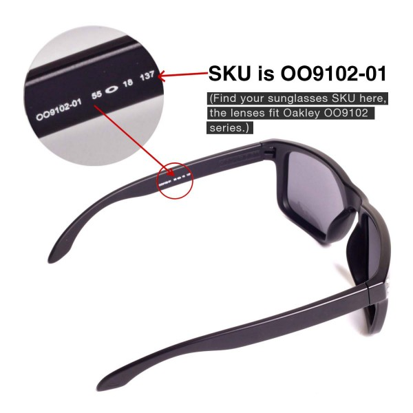 4b4b3abd40 Walleva Ice Blue Mr.Shield Polarized Replacement Lenses for Oakley Holbrook  Sunglasses. Color   Mr. Shield Polarized Lenses   Ice Blue