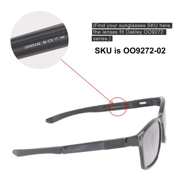 9859615448 New Walleva Titanium Polarized Replacement Lenses For Oakley Catalyst  Sunglasses. Color   Polarized Lenses   Titanium