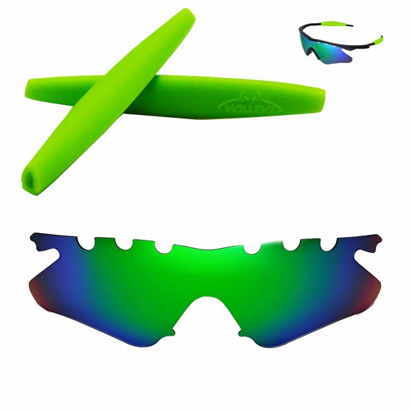Walleva Polarized Emerald Vented Replacement Lenses and Green ...