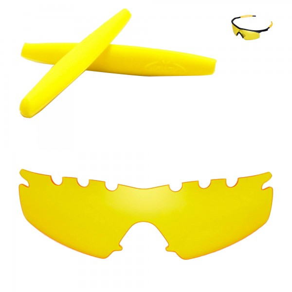 5a4cf2ff434 ... Oakley M Frame Strike Sunglasses. Color   Non-Polarized Lenses + Rubber    Yellow + Yellow
