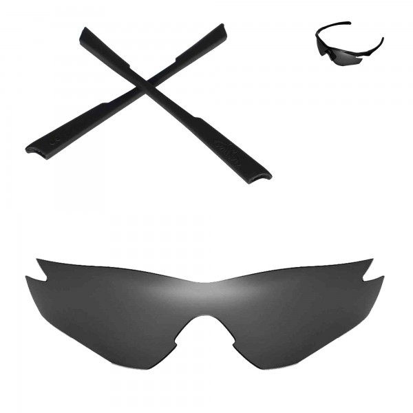 41851d13735 New Walleva Replacement Lenses And Earsocks for Oakley M2 Sunglasses - Multiple  Options (Black Polarized Lenses + Black Rubber). Color   Polarized Lenses +  ...