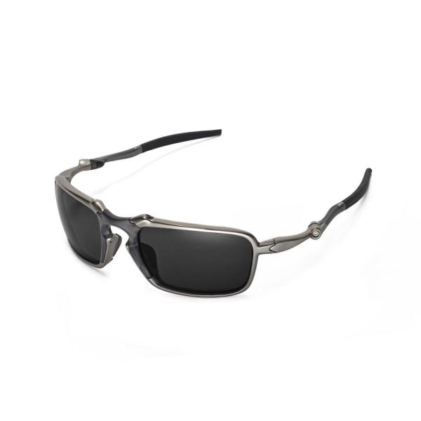230adb9e13 New Walleva Black Polarized Replacement Lenses For Oakley Badman Sunglasses.  Color   Polarized Lenses   Black