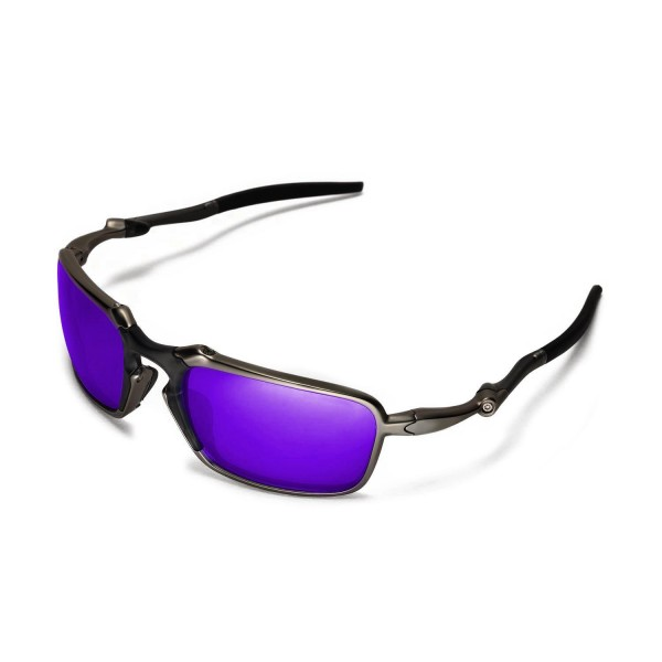 85e8b1a0b8 New Walleva Purple Polarized Replacement Lenses For Oakley Badman Sunglasses
