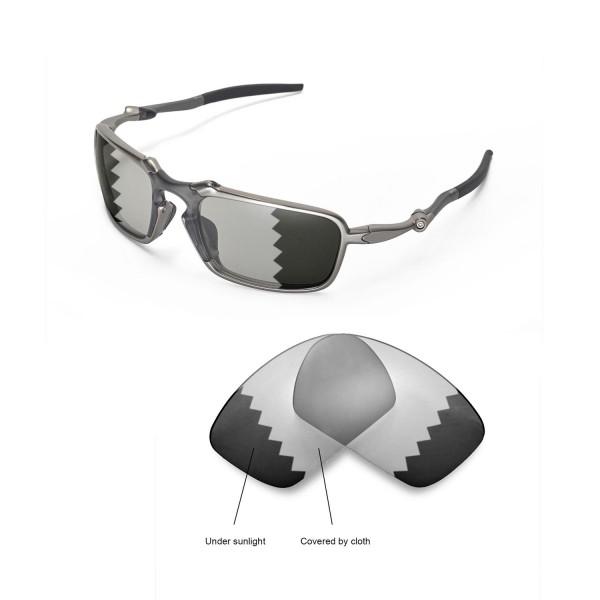 e14c47f034 New Walleva Transition Photochromic Polarized Replacement Lenses For Oakley  Badman Sunglasses. Color   Polarized Lenses   Transition