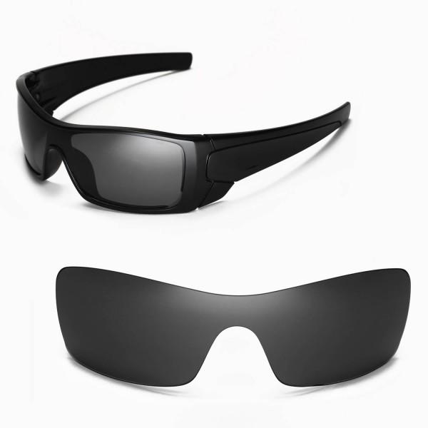 c19dfaa5a9 Walleva Polarized Black Replacement Lenses for Oakley Batwolf Sunglasses.  Color   Polarized Lenses   Black