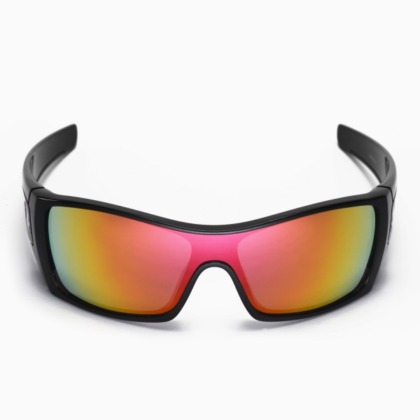 420d6662c2 Walleva Fire Red Replacement Lenses for Oakley Batwolf Sunglasses. Color    Non-Polarized Lenses   Fire Red