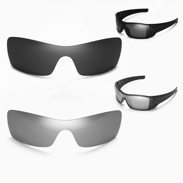 d41183e449 New Walleva Polarized Black + Titanium Lenses For Oakley Batwolf