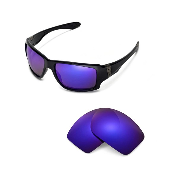 524606f7f3d New Walleva Purple Polarized Replacement Lenses for Oakley Big Taco  Sunglasses. Color   Polarized Lenses   Purple