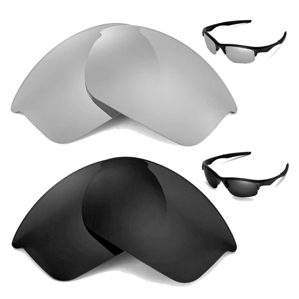 28f7c215ab9 Walleva Polarized Titanium + Black Replacement Lenses for Oakley Bottle  Rocket Sunglasses. Color