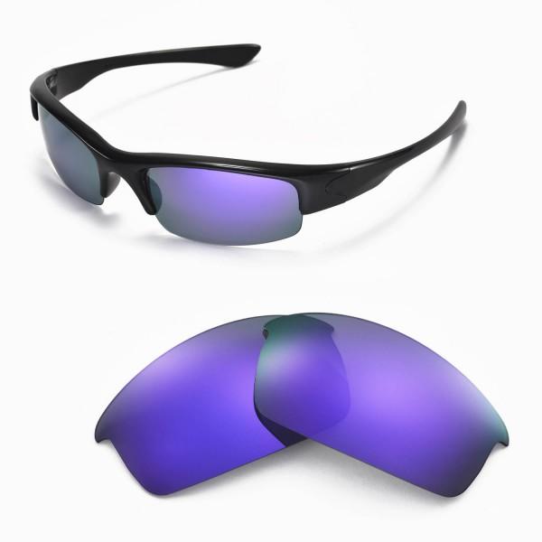d22168c36e Walleva Replacement Lenses for Oakley Bottlecap Sunglasses - Multiple  Options Available (Purple Coated - Polarized). Color   Polarized Lenses    Purple
