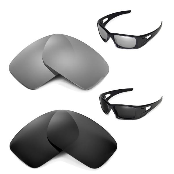 eb6303b87c New Walleva Polarized Titanium+Black Replacement Lenses For ...