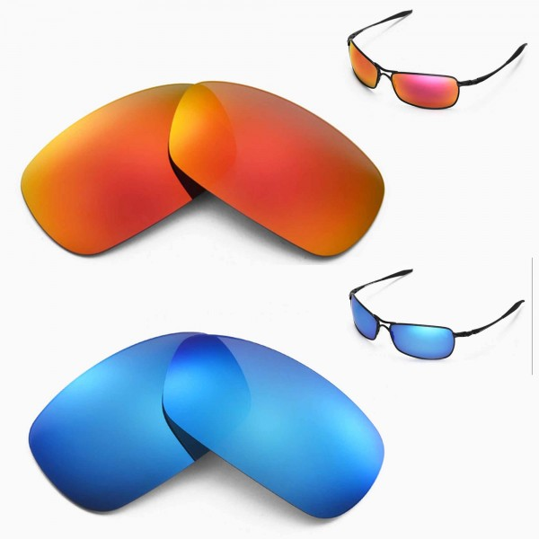 8b540ff1879f9 New Walleva Polarized Fire Red + Ice Blue Lenses For Oakley ...