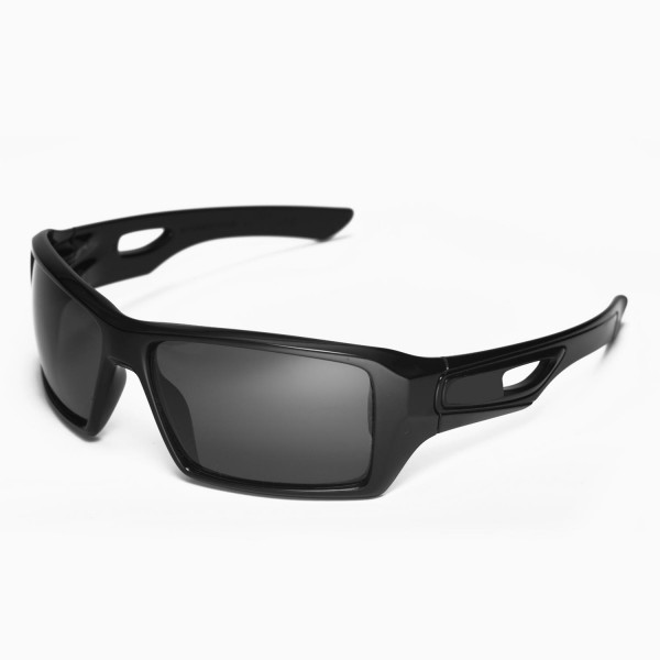 630faf2b869 Walleva Black Replacement Lenses for Oakley Eyepatch 2 Sunglasses. Color    Non-Polarized Lenses   Black