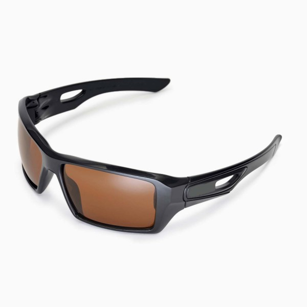 a9b7b03f6ca Walleva Polarized Brown Replacement Lenses for Oakley Eyepatch 2 Sunglasses.  Color   Polarized Lenses   Brown