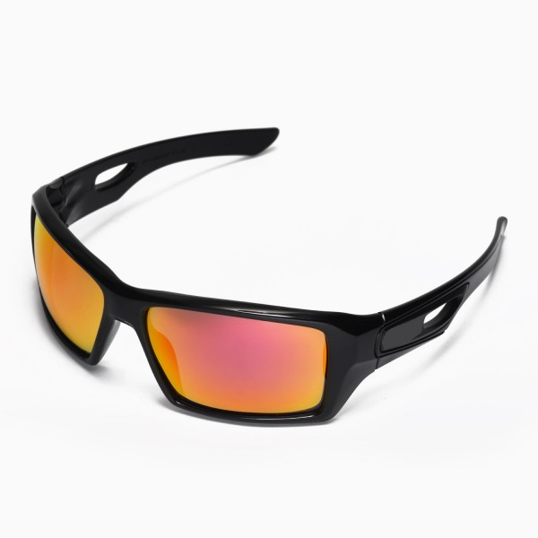 a74d2966ce3 Walleva Fire Red Replacement Lenses for Oakley Eyepatch 2 Sunglasses. Color    Non-Polarized Lenses   Fire Red