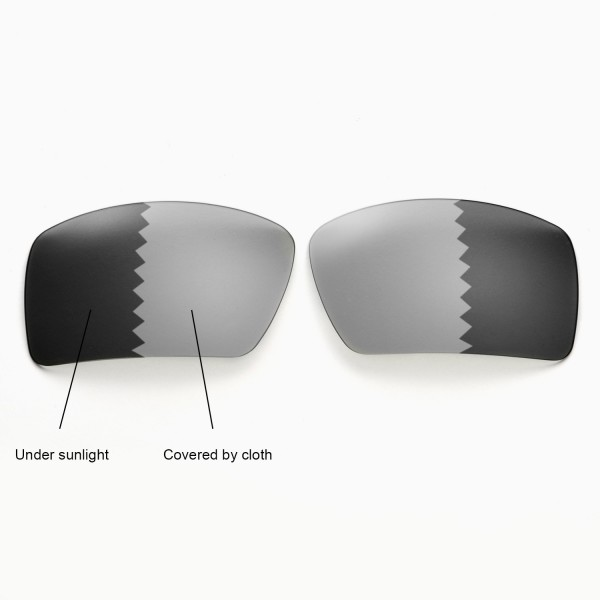d7edf02fd3 Walleva Polarized Transition Photochromic Replacement Lenses for Oakley  Eyepatch 2 Sunglasses. Color   Polarized Lenses   Transition