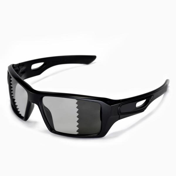 e64ef6b1077 Walleva Polarized Transition Photochromic Replacement Lenses for Oakley  Eyepatch 2 Sunglasses