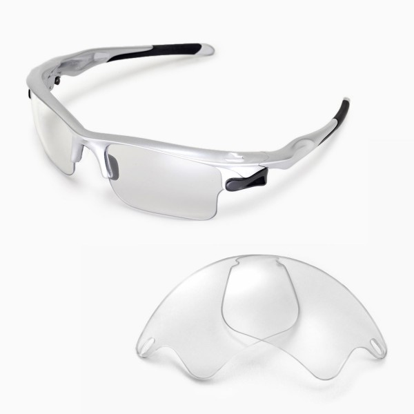 8d8fa3a955 Walleva Clear Replacement Lenses for Oakley Fast Jacket XL ...