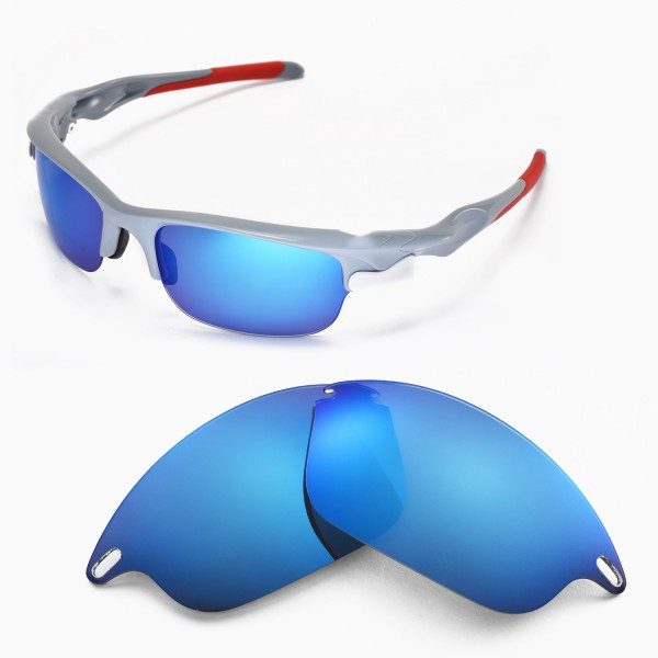 c56c10a54e Walleva Replacement Lenses for Oakley Fast Jacket Sunglasses - Multiple  Options Available (Ice .